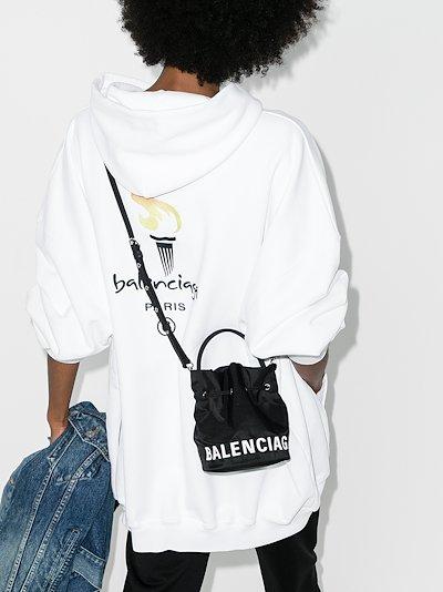 black Wheel XS bucket bag
