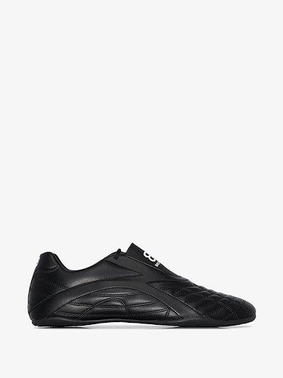 black Zen logo print sneakers