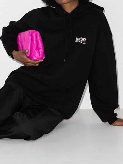 campaign logo print hoodie