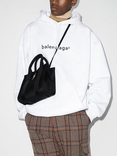 copyright logo print hoodie