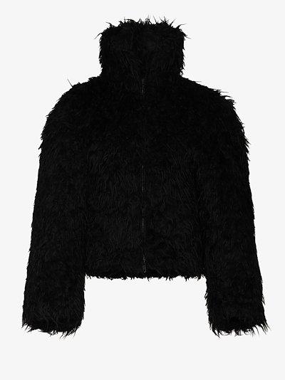 Cropped faux fur Bomber Jacket