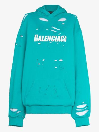 Destroyed logo hoodie