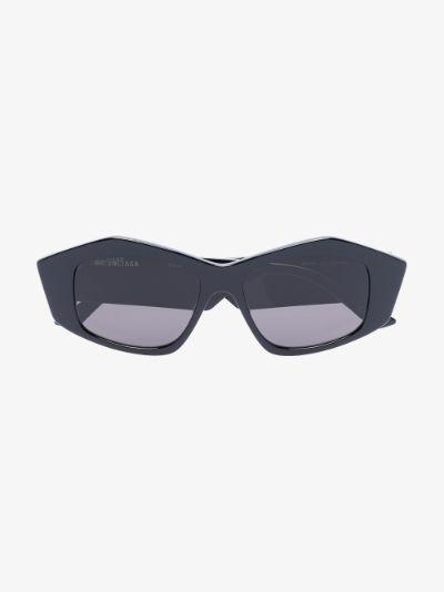 black angular sunglasses