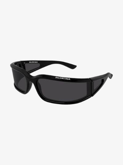 Black Extreme shield sunglasses