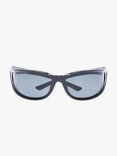 black fast rectangle sunglasses