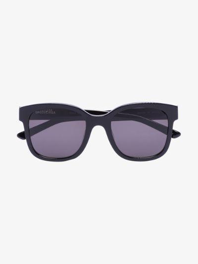 Black large frame sunglasses