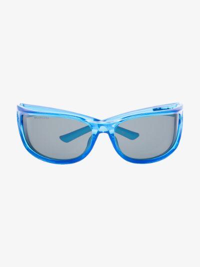 blue Fast rectangle sunglasses