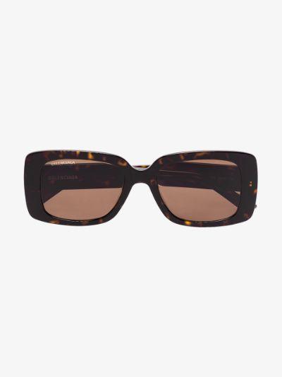 brown Paris rectangle sunglasses