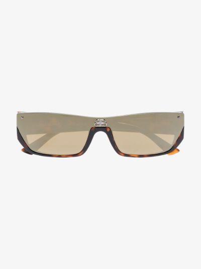 brown Shield rectangular sunglasses