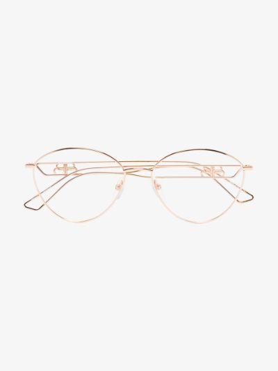 gold tone BB wire optical glasses