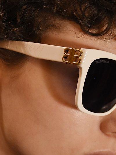 White Dynasty square frame sunglasses