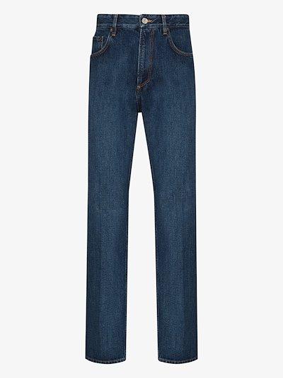 faded slim leg jeans