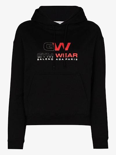 Gym Wear logo cotton hoodie