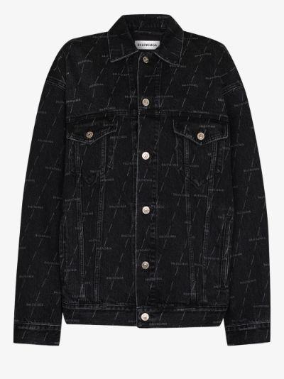logo detail denim jacket