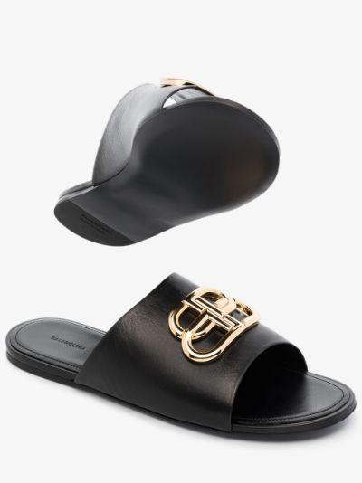 logo-plaque sandals