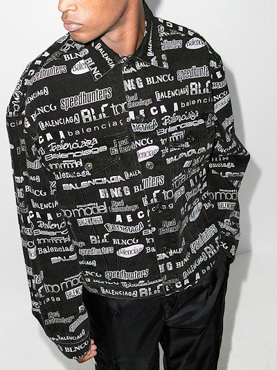 logo print denim jacket