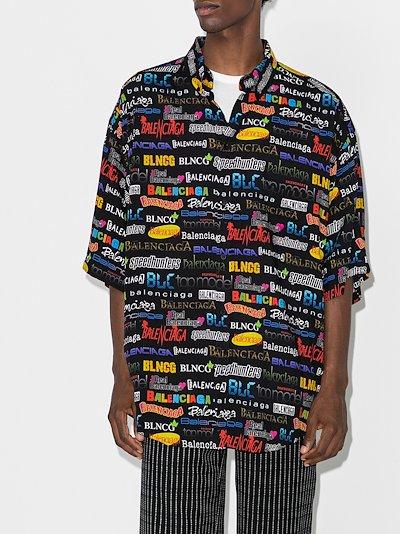 logo print shirt