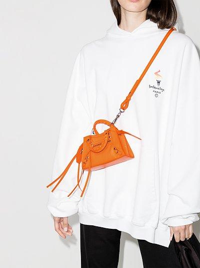orange Neo Classic Nano leather mini bag