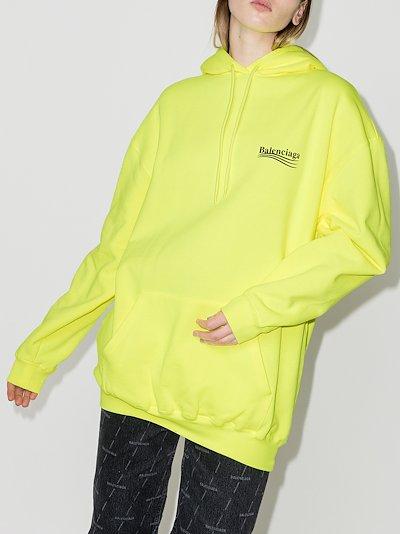 oversized logo print cotton hoodie