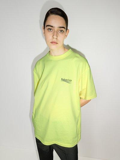 oversized logo print cotton T-shirt