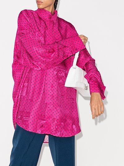 oversized polka dot shirt