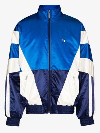 panelled padded track jacket
