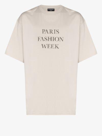 Paris Fashion Week cotton T-shirt