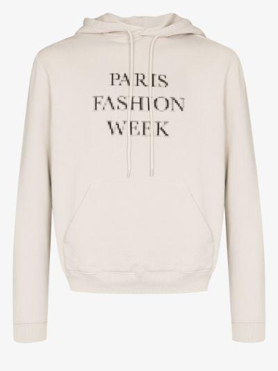 Paris Fashion Week cropped hoodie