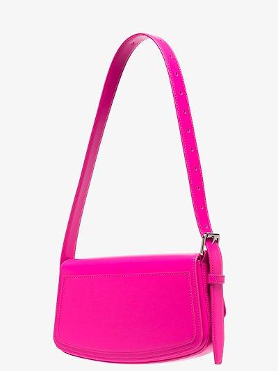 Pink Ghost sling leather shoulder bag