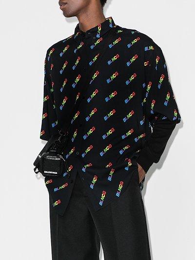 rainbow logo print shirt