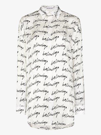 signature logo silk shirt