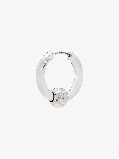 Silver Tone Force Single Hoop Earring