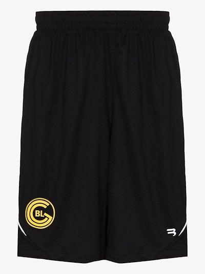 Soccer logo track shorts