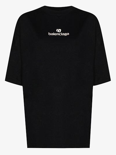 Sponsor logo cotton T-shirt