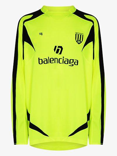 Sponsor logo long sleeve soccer jersey