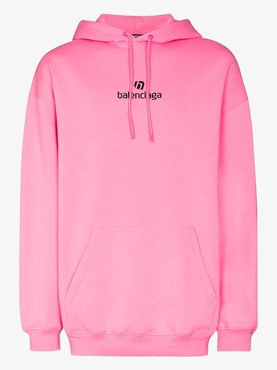 Sponsor logo print hoodie