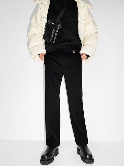 tailored slim leg trousers