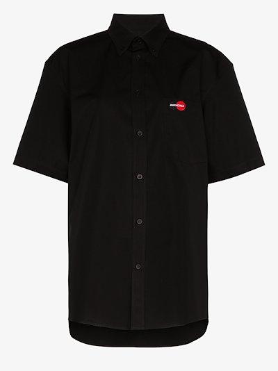 uniform logo short sleeve shirt