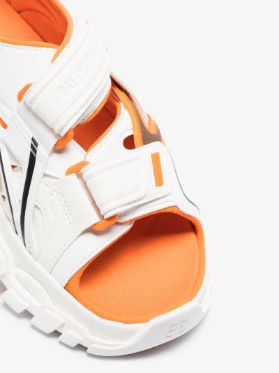 White and Orange Track Rubber Sandals
