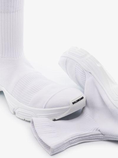 White Speed Sock Sneakers