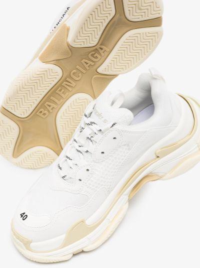 white Triple S sneakers