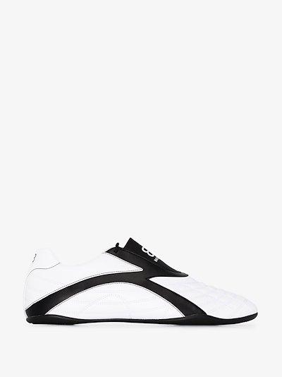 white Zen logo print sneakers