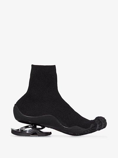 X Vibram Black Stretch Knit sock Sneakers