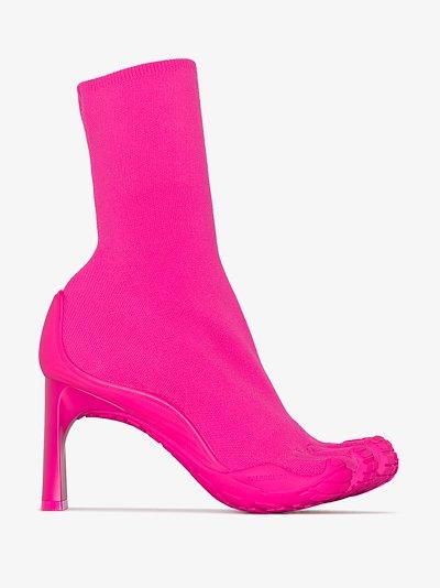 X Vibram pink 80 sock boots