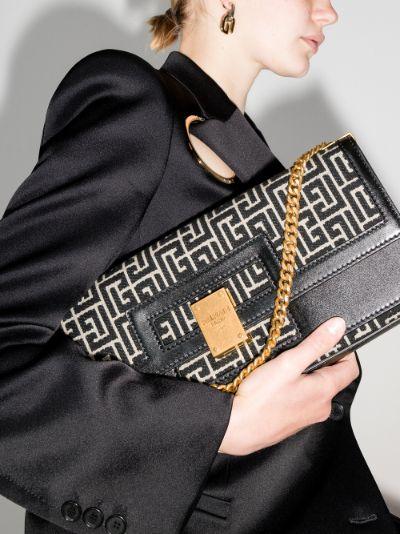 black 1945 Large monogram jacquard shoulder bag