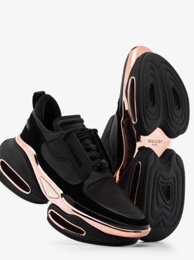 black B-Bold suede sneakers
