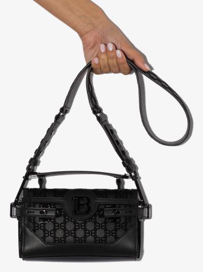 Black B-Buzz 19 leather shoulder bag