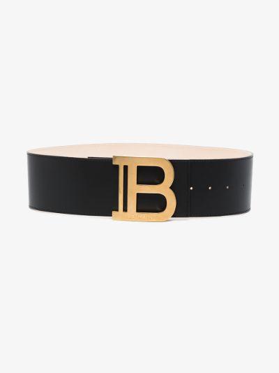 black leather waist belt