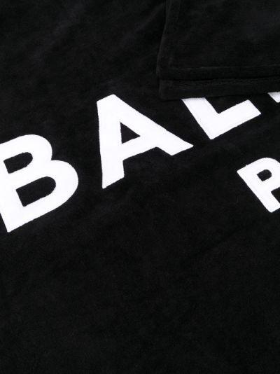 black logo cotton towel
