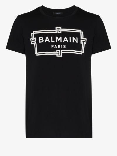 box logo print T-shirt